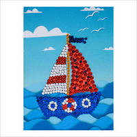 """Мозаїка з паєтками """"Веселі пінсіки"""" Набір для дитячої творчості"""