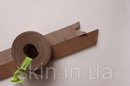 Полосы натуральной кожи для ремней не обработанные бежевого цвета, толщина 3.6 мм, арт. СКУ 9002.1687, фото 2