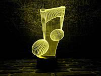 """3D Светильник """"Нота"""", фото 1"""