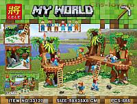 """Детский конструктор Lele Minecraft / Майнкрафт 33127 """"Джунгли"""", 686 дет"""
