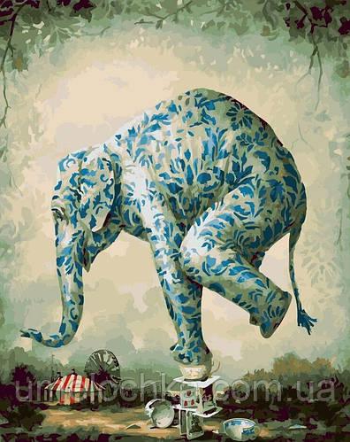 Картина-раскраска Цирковой слон (BRM22032) 40 х 50 см