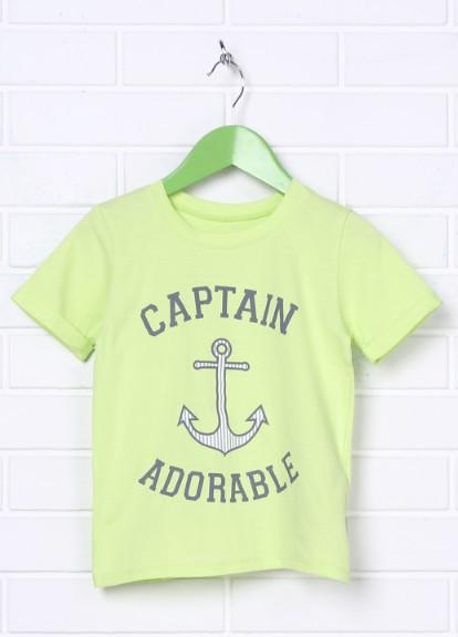 Детская футболка для мальчика с якорем