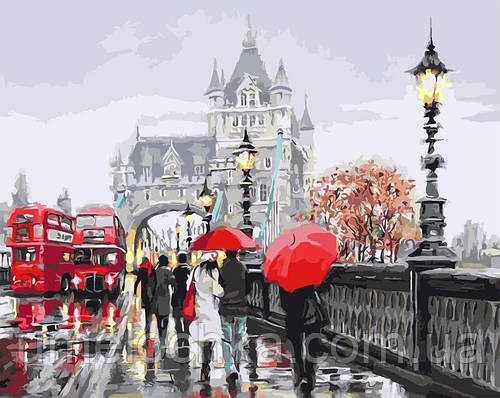 Картина по номерам Осень в Лондоне (BRM3096) 40 х 50 см