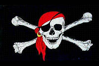 """Пиратский флаг """"Весёлый Роджер"""" - большой!, фото 1"""
