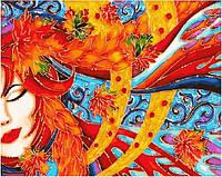 Картина-раскраска Девушка-осень (BK-GX21316) 40 х 50 см [Без коробки]