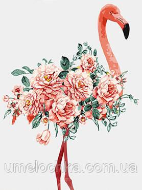Раскраска по номерам Цветочный фламинго (BK-GX4467) 40 х 50 см [Без коробки]