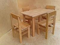 Детский стол + 4 стула