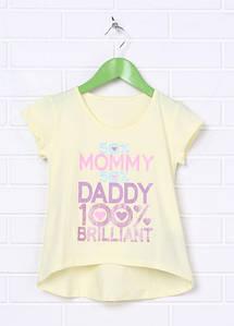 Детская футболка для девочки с удлиненной спинкой