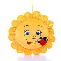 Детская подушка, подушка Солнышко,желтая