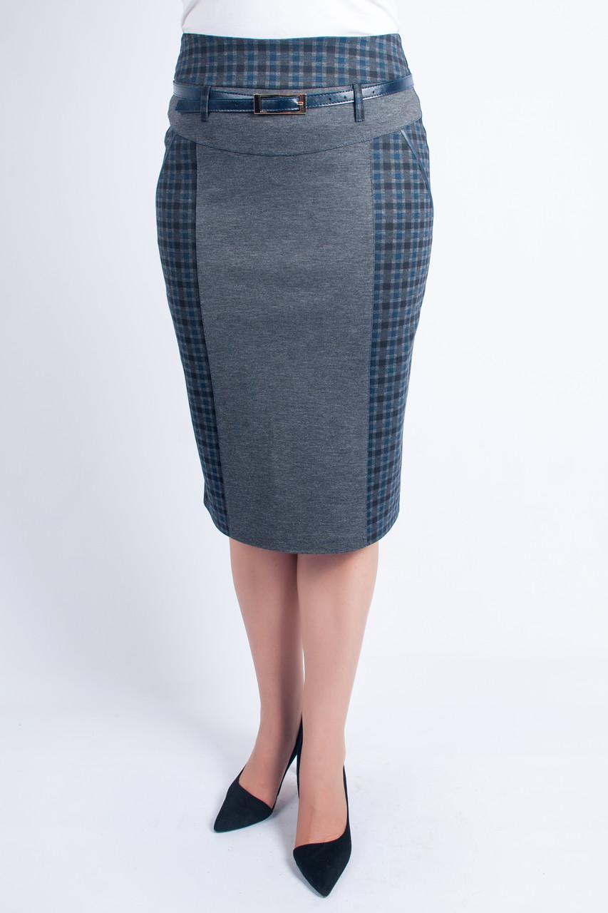 Оригинальная серая юбка Ирма светло-серая