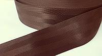 Тесьма ременная фирменная  (3.8 см) коричневая