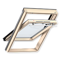 Мансардное окно GZR 3050.(55х78см) Ручка сверху/снизу. Дерево.