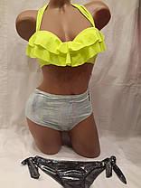 Купальник 618112 Бренд с двумя плавками лимонный, идет на наши 42 44 46 48 50 размеры. , фото 2