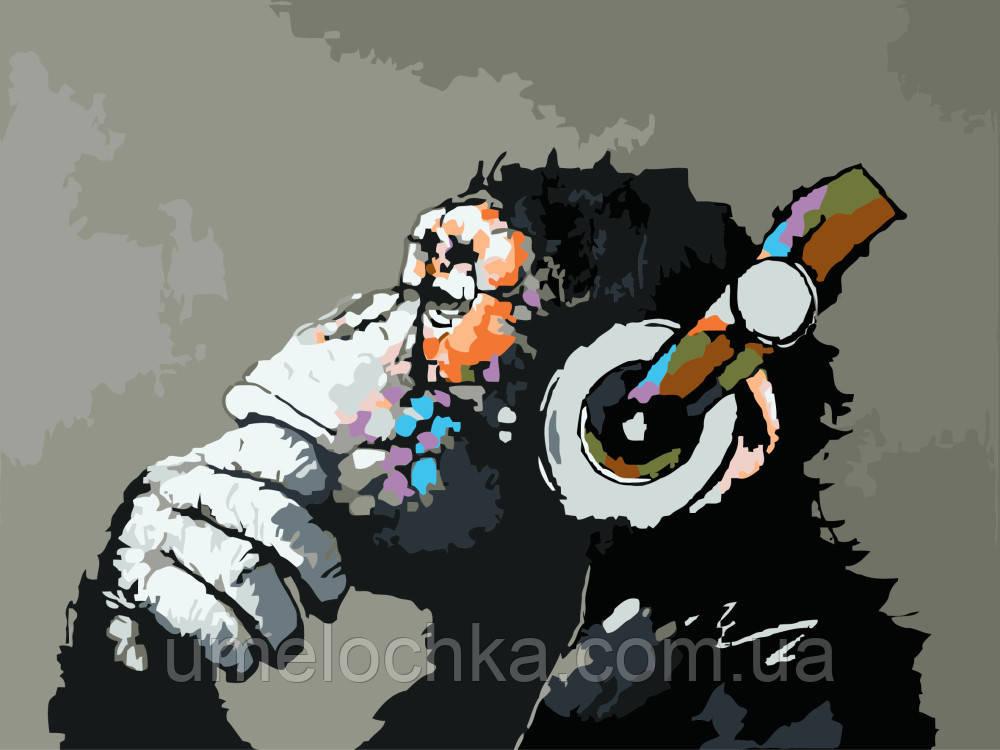Рисование по номерам Обезьяна в стиле поп-арт (BRM8009) 40 х 50 см