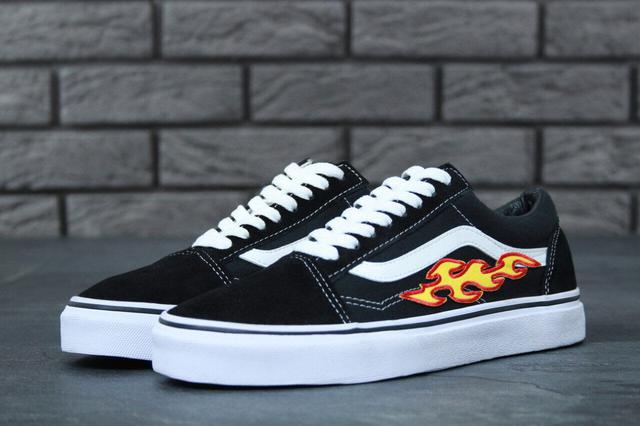 Vans Old Skool Black White Rose