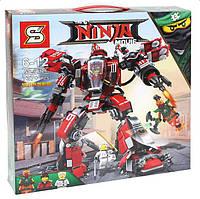 """Конструктор Ninjago Movie SY926 (аналог Lego 70615) """"Огненный робот Кая"""" 737 дет"""