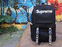 Рюкзак чёрный Supreme | Стильный