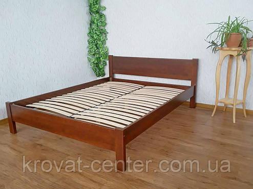 """Двоспальне ліжко з масиву натурального дерева """"Економ"""" від виробника, фото 2"""