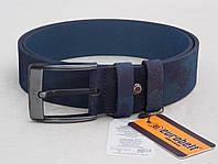 Мужской кожаный ремень для джинс Eurobelt нубук