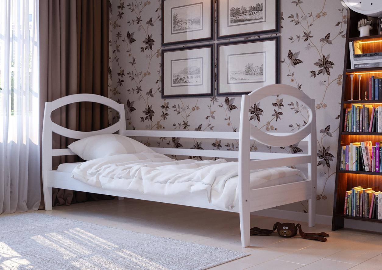 Дитяче Підліткове ліжко з дерева в дитячу кімнату (кроватка) Наутілус 80 ДОК