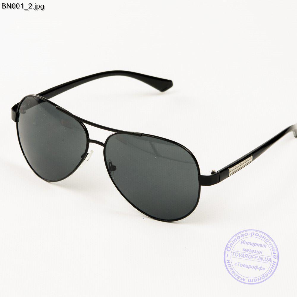 Мужские очки авиатор - Черные - BN001