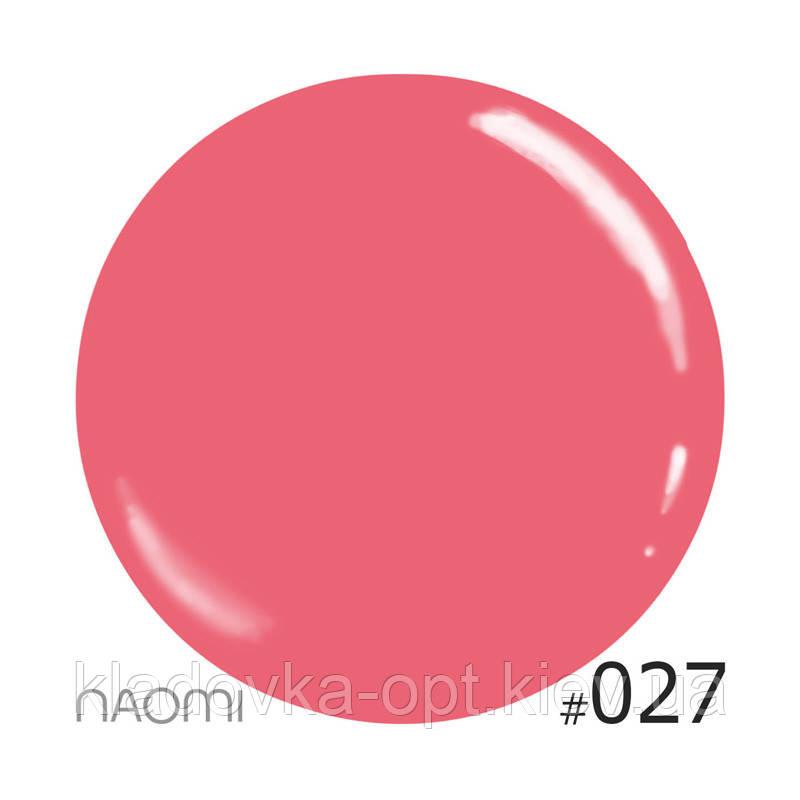 Декоративный лак Naomi 027 (кремово-розовый), 12 мл