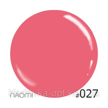Декоративный лак Naomi 027 (кремово-розовый), 12 мл, фото 2