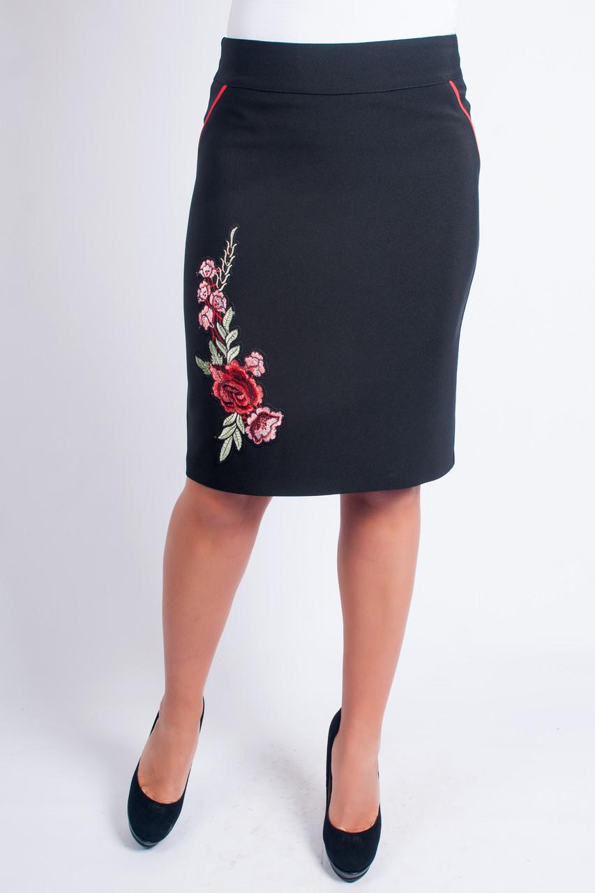 Женская юбка с аппликацией Соломия