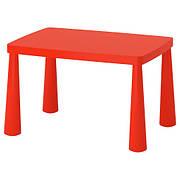 МАММУТ Стол детский, д/дома/улицы, красный, 77x55 см, 60365167, IKEA, ИКЕА, MAMMUT