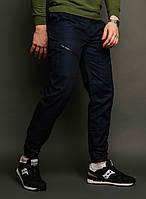 Мужские карго штаны Apache темно-синие, зауженные ( внизу манжет на резинке), фото 1