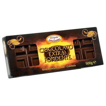 Шоколад чорний Dolciando Ciocolato Extra Fondente (50% какао) 500гр. Італія, фото 2