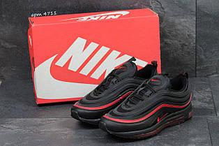 Кросівки чоловічі Nike air max 97,чорні з червоним 41,44,45