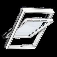 Мансардные окна ПВХ  GLP 0073B (55х78см) с ручкой снизу, фото 1