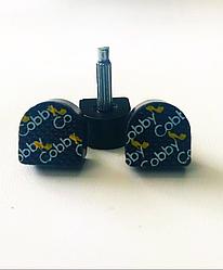 """Набойки на штыре """"cobby"""" черные, 16mmx16mm штырь 2,9mm возможна покупка в ассортименте,премиум класс"""