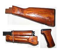 Комплект (газовая трубка с ствольной накладкой+цевьё+рукоятка+приклад) для АКМ калибр 7,62, фото 1