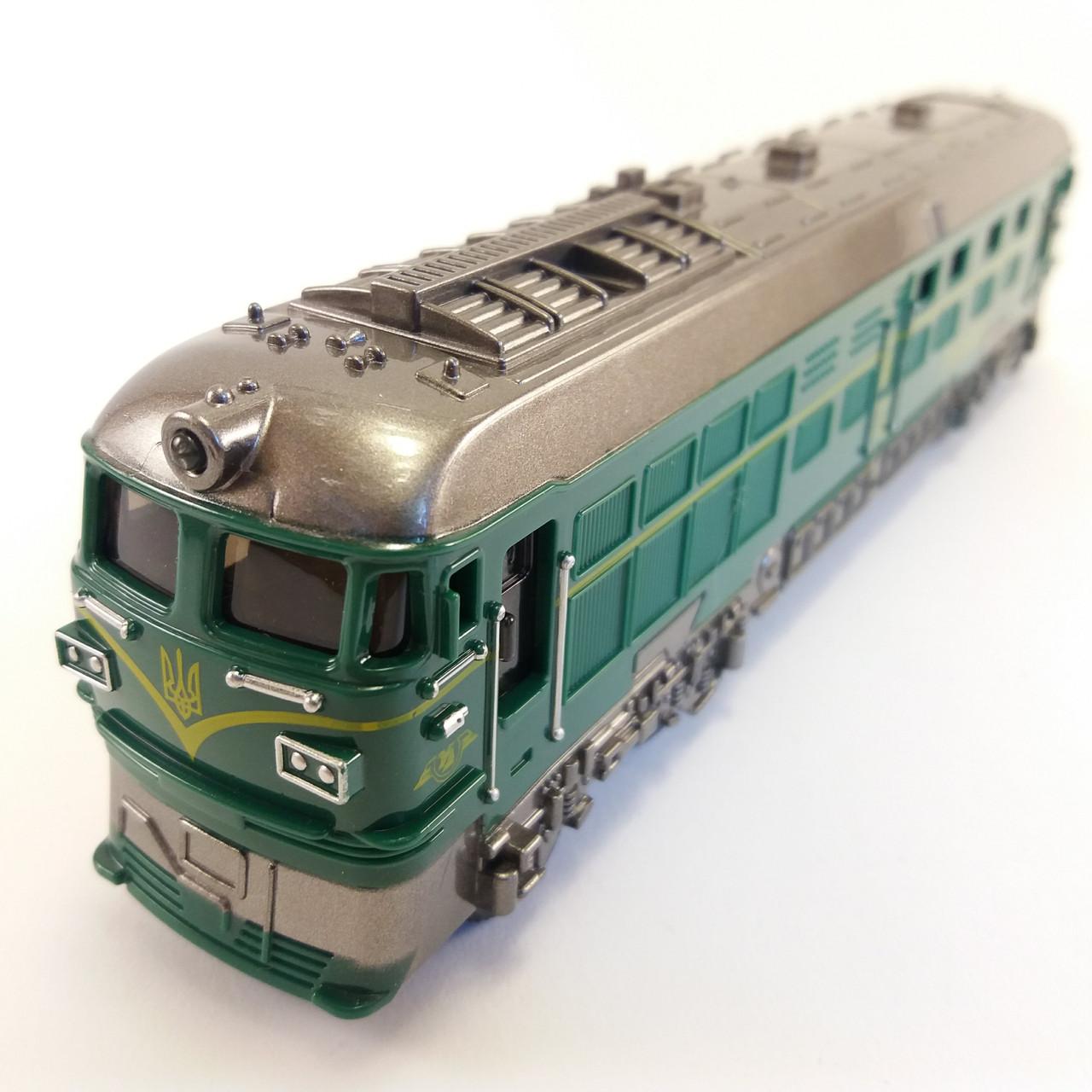 Поезд Автопром 7792 свет, звук, пластик Зелений