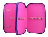 Пенал твердый двойной  Sofia purple, 20*13*4.5, фото 3