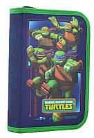Пенал твердый одинарный с двумя клапанами  Turtles, 20.5*13.5*4.2