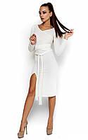 S-M, M-L / Теплое короткое платье Lara, белый