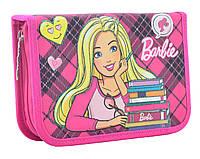 Пенал твердый одинарный с двумя клапанами  Barbie, 20.5*13.5*4