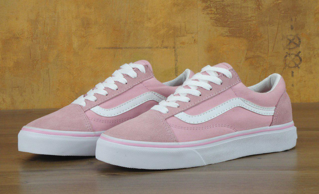 51d8fdb4 Кеды Vans Old Skool Pink White - Интернет магазин обуви «im-РоLLi» в