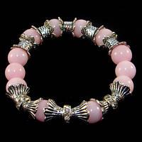 💖 Браслет из натурального розового кварца (10 мм) на резинке (Есть все размеры!*)