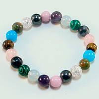 💖 Браслет из натуральной разных камней (8 мм) на резинке (Есть все размеры!*)
