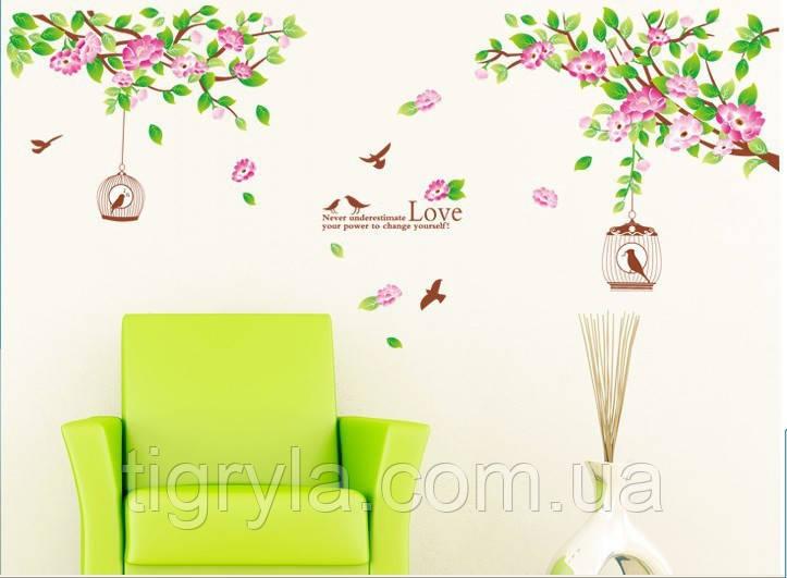 Интерьерная наклейка на стену Весна