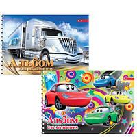 Альбом для рисования для мальчиков 30 л. обложка цвет, мелованный  картон, 100 г/м2 , пруж