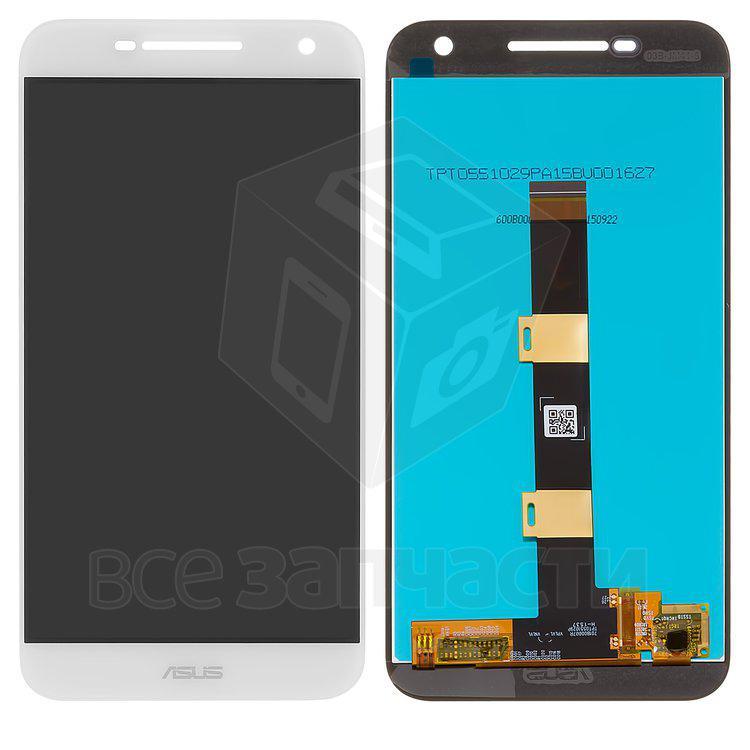 Дисплейный модуль для мобильного телефона Asus Pegasus 2 Plus X550, белый