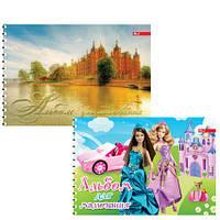Альбом для рисования для девочек 30л. обложка цвет, мелованный  картон, блок офсет импортный 100 г/м2 , пруж