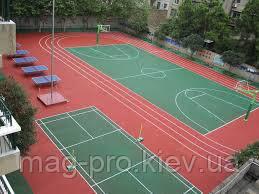 Бесшовные резиновые покрытия для спортивных площадок, фото 2