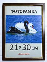 Фоторамка,  пластиковая,  15*21, А5,  рамка для фото, сертификатов, дипломов, грамот,1511-33