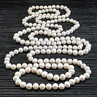 Жемчуг белый, Ø8*1,65 м., бусы, 344БСЖ
